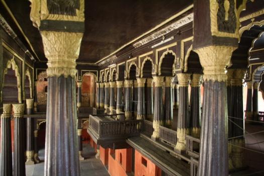 Inside showing amazing teak structure.