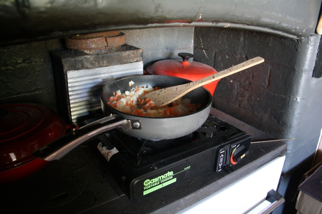 New gas range.
