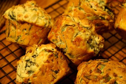 Spinach ricotta muffins