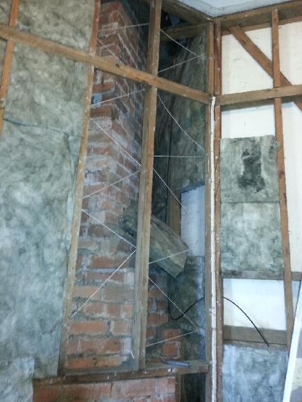 Insulation chimney recess