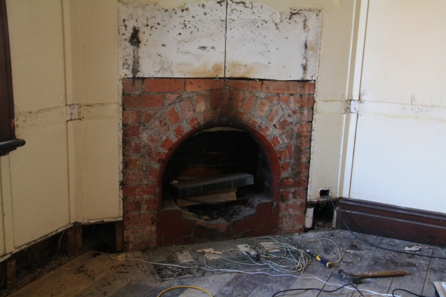 Fireplace undressed