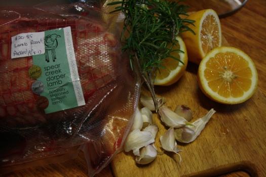 Lemon garlic lamb roast