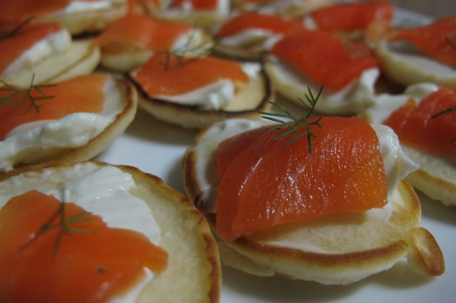 Smoked Salmon with creamed cheese