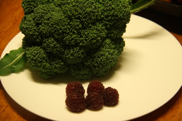 Broccoli & Autumn Raspberries
