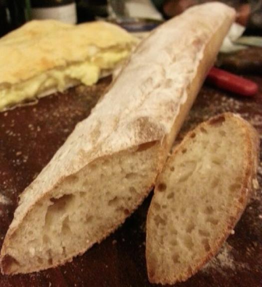 Sourdough ciabatta bread sticks
