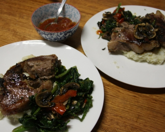 Chops and mash
