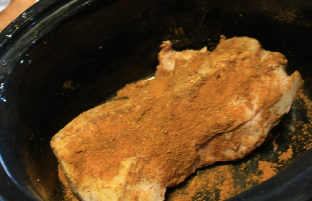 slow cooked pork