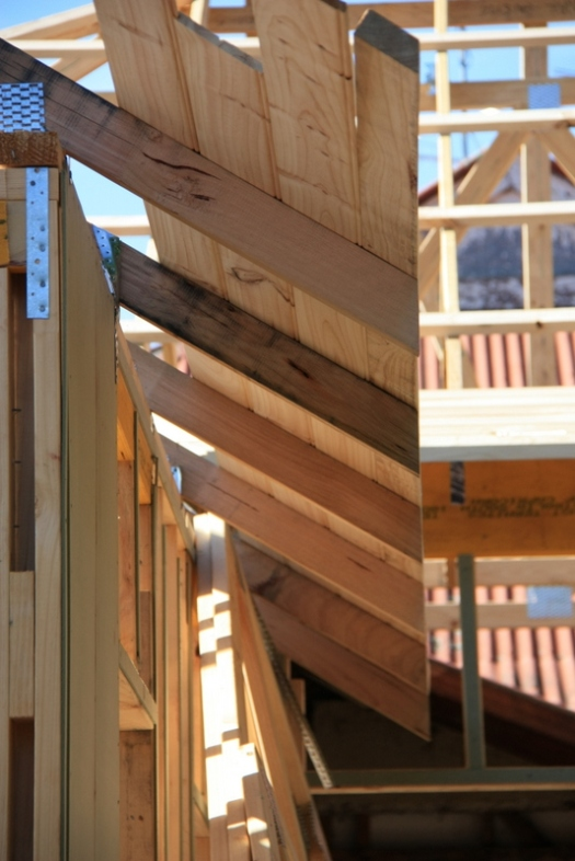 Timber eave lining