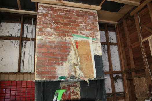 Brick chimney paint stripping Peel Away