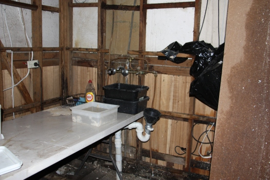 Kitchen sink removed