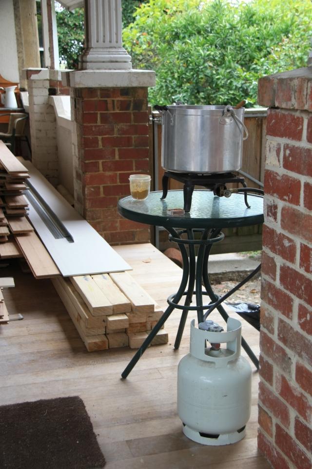 Gas burner verandah
