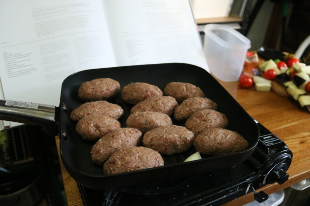 Kebabs frying
