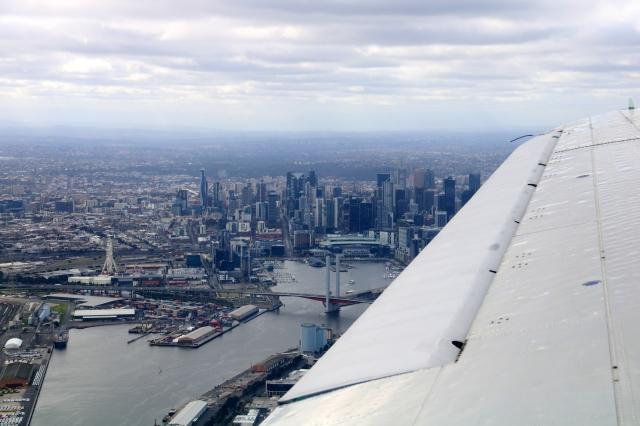 DC3 over Melbourne