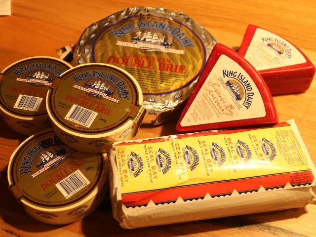 King Island Cheese selection