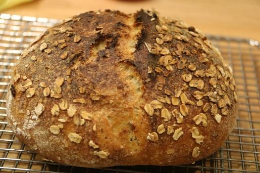 Oat Porridge sourdough bread