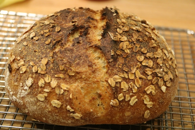 Oat Porridge sourdough bread