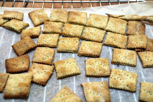 sourdough crackers