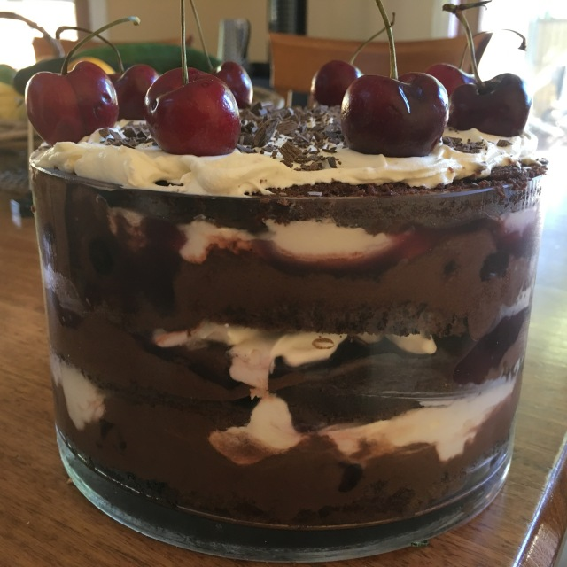 Chocolate Black forest Trifle